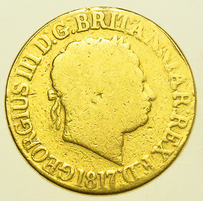 1817 Sovereign British Gold Coin From George Iii Fair