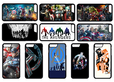 MARVEL AVENGERS Superhero Phone Case Cover iPhone 4 5 SE 6 7 8 Plus X Comp (A)