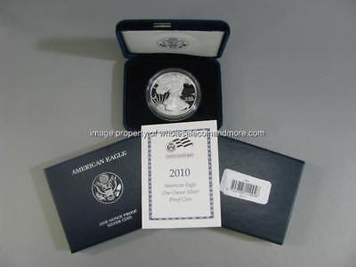 2010 W Proof Silver American Eagle Dollar 1oz Bullion US Mint $1 Coin