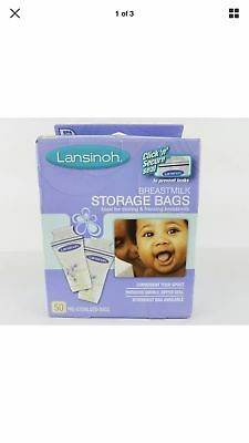 Lansinoh Breastmilk Storage Bags BPA Free and BPS Free 50 Count LOT OF 2!