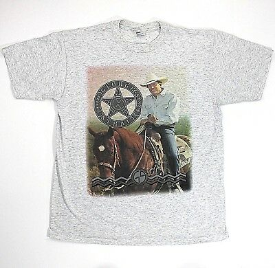 VTG 90s George Strait USA Tour Concert T-Shirt Heather Gray Adult Large USA Made