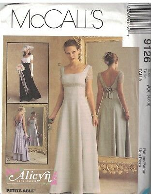 7514 VINTAGE MCCALLS SEWING Pattern Elegant Wedding Gown Dress ...