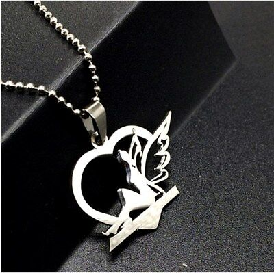 NEW Fairy Elf  Silver 316L Stainless Steel Titanium Pendant Necklace W39