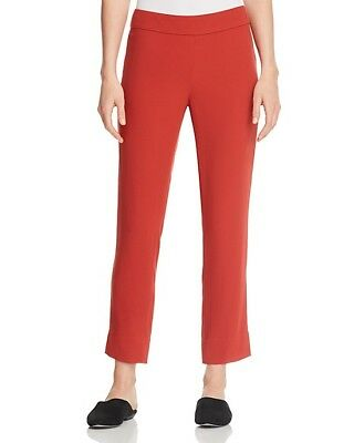 Nwt Eileen Fisher Serrano Georgette Silk Straight Ankle Pants $258 Ps Pm Pl