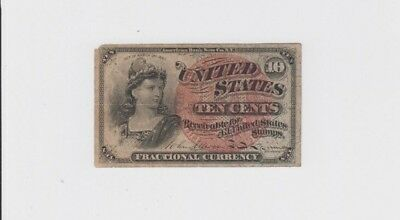 Fractional Currency Civil war era item to the 1870s corner tip missing low grade