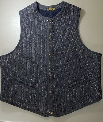 Original Vintage Browns Beach Wool Vest Jacket Made In Worcester Massachusetts!
