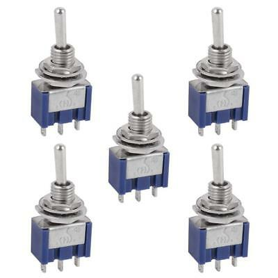 5 Pcs AC ON/OFF SPDT 2 Position  Micro Mini Toggle Switch 6 Amp, AC125V