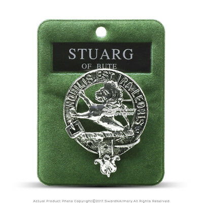 Clan Stuarg Of Bute Scottish Crest Badge Brooch Pin for Clothes Gift Souvenir