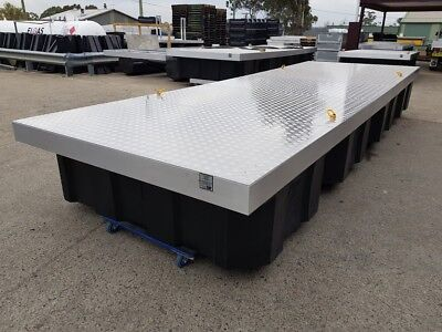 6x2m PONTOON FULLY WELDED ALUMINIUM FLOATING BOAT DOCK WORK PLATFORM POLY FLOATS