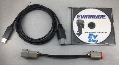 Evinrude diagnostic USB Cable for FICHT and ETEC + Bootstrap tool