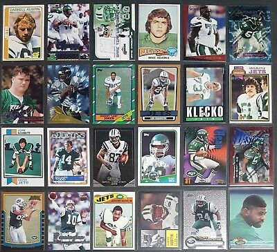 NFL 24 Card Lots Of The New York Jets With Stars & RCs