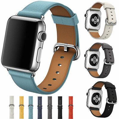 For Apple Watch Series 3/2/1 Genuine Leather iWatch Band Business Strap 38/42mm