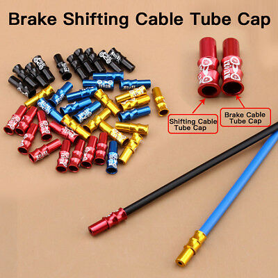 10 x COLOURED BICYCLE BIKE BRAKE GEAR INNER CABLE/WIRE END CAP CRIMP MTB ROAD LK