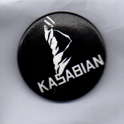KASABIAN BUTTON BADGE - ENGLISH  INDIE ROCK BAND CLUB FOOT L.S.F  25mm PIN