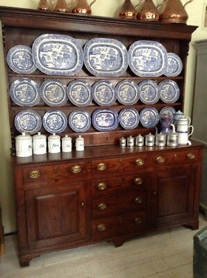 Antique Early 19th Century Elm Dresser N Wales