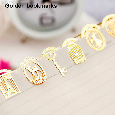7110 Random Style Book Mark Paper Clip Hollow Metal Bookmark Cute 5pcs