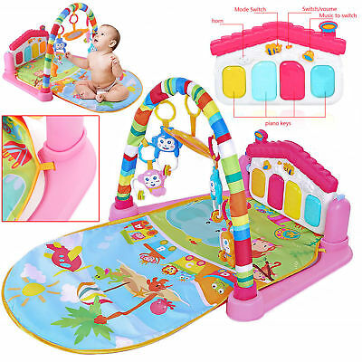 3 in 1 Baby Kids Piano Music Play Mat Gym Floor Activity Lay Sit Play Musical