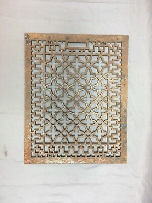 Antique 21x16 Cold Air Return Heat Grate Grill Gothic Floor Vent Old Vtg 454-18E