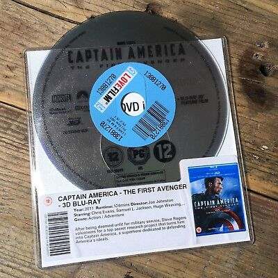 Captain America - The First Avenger (3D Blu-Ray 2011) Marvel Action - DISC ONLY