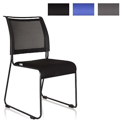 Stackable Visitor Chair Conference Chair PADUA V Mesh Connectable hjh OFFICE