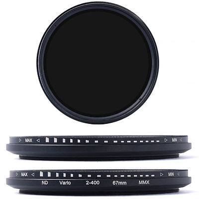 67mm Slim Fader Variable ND Filter Neutral Density Adjustable ND2 to ND400 LF26