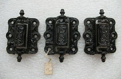 3 Antique Screen Door Hinges W.A.R. & Co.Cast Iron Spring Close Hinges