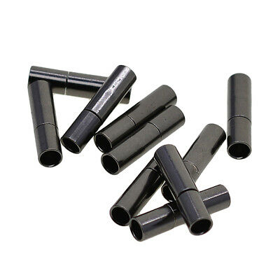 10pcs Leather Cord Glue In Bayonet Push Tube Bracelet End Clasp Findings 3mm