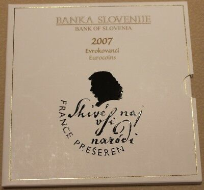 Offizieller KMS Slowenien 2007, 3,88 €, BU, in Folder, Official Coin set
