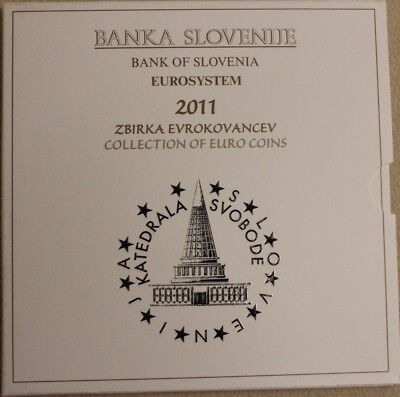 Offizieller KMS Slowenien 2011, 8,88 €, BU, in Folder, Official Coin set incl.3€