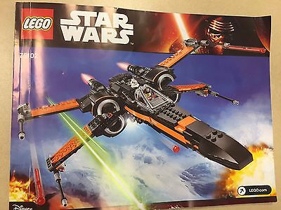 Lego Star Wars Resistance X Wing Fighter Original Instructions Only