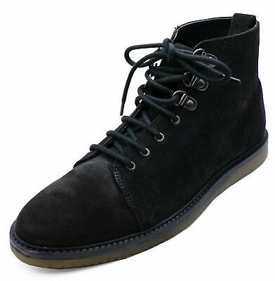 Mens Black Leather Lace-Up Dealer Smart Casual Ankle Boots Work Shoes 6-10