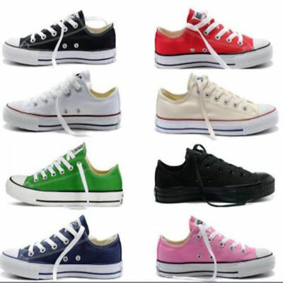 New Unisex Women's All-Star Chuck Taylor Low Top Trainers Full Size Shoes UK