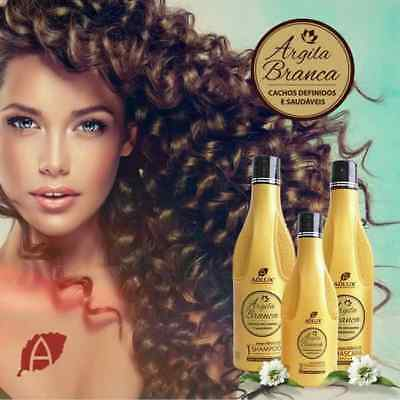 Adlux White Clay Defined And Healthy Curls Kit 3 Steps. Shipping Ups Or Fedex