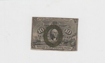 Fractional Currency Civil War era item to 1870's fine mounted