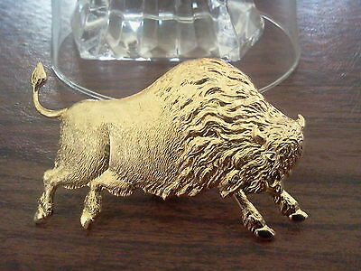 WILD WILD WEST 2 BUFFALO BISON GOLD PINS MADE IN U.S.A. All New.