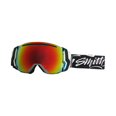 Smith I/O7 Grey Black Goggles w/ Red Sol-X + Blue Sensor Mirror Lens