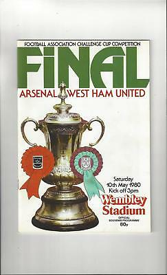 Arsenal v West Ham United FA Cup Final Football Programme 1980