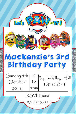 Personalised Age Photo Boy//Girl Tractor Birthday Party Invites inc Envelopes T2