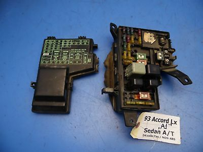 93 Honda Accord Fuse Box - Wiring Diagram Update on