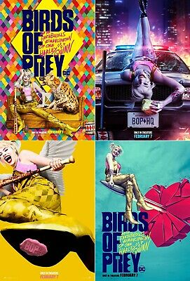 "Birds Of Prey Poster Harley Quinn Movie DC Comics 24x36"" 27x40"" Art Film Print"