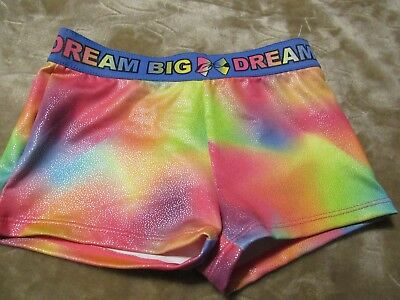 JoJo Siwa Girls Size 4/5 Dance Shorts Freestyle Danskin Dream Tie Dye NWOT O-42