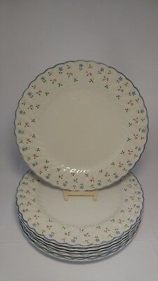 """Set of SIX Johnson Brothers ENGLAND Melody 9 7/8"""" Dinner Plates - EXC."""
