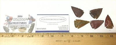 5 Trade Points Native American Made Arrowheads in the Early 1900's Trade Pieces