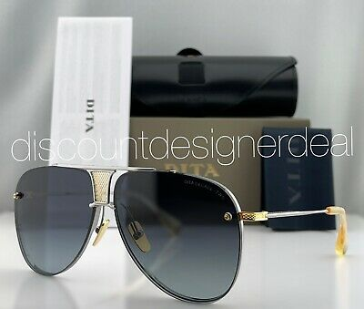 a929ad7a9fc1 DITA DECADE TWO Aviator Sunglasses DRX-2082 Silver 18k Gold Grey Gradient  62mm