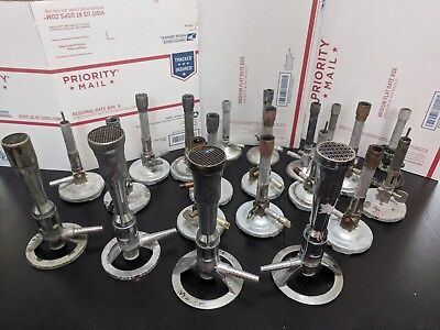 LOT 21 Bunsen Burners Fisher Humboldt 6200.1 XL Venturi Laboratory lab pyrex gas