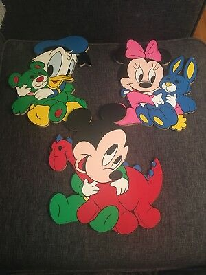 Vintage Disney Nursery Wooden Wall Hanging Pictures