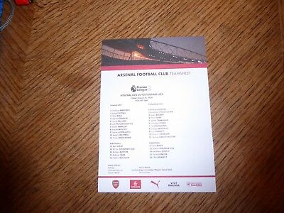Arsenal v Tottenham U23 Premier League 2  31 August 2018 official teamsheet mint