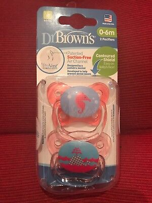 Dr. Brown's PreVent Butterfly Pacifier, 2 Pack (Girl) - 0-6 Months