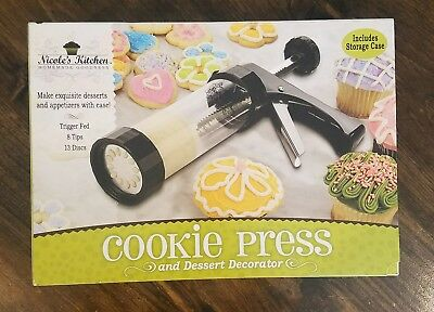 Nicole's Kitchen Cookie Press & Dessert Decorator