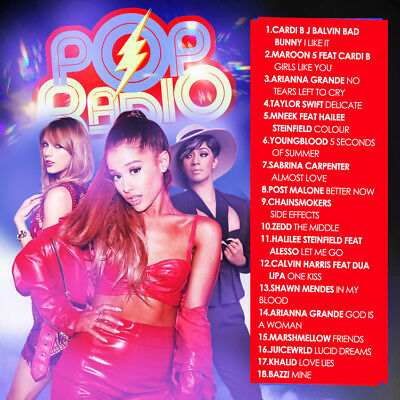 Pop Radio July 2018 (Mixtape) CD Album Rap Trap PA Hip Hop RnB RB